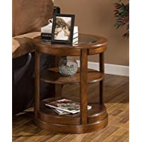 Round Accent Table with Glass