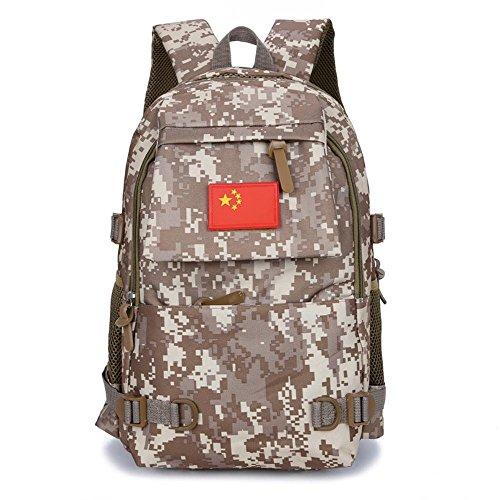 Aoligei Camouflage épaules sac hommes / femmes mode sac à dos voyage plein air loisirs sac étudiant sac de sport B