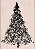 Hero Arts Pen and Ink Christmas Tree Woodblock Stamp