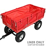 Sunnydaze Liner for Garden Utility Cart, Heavy-Duty