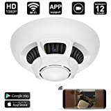 WiFi Spy Camera Detector,DigiHero HD 1080P Camera Smoke Detector,Security Camera with Live Viewing and Recording,Motion Activated on IOS/Android Smartphones/Tablets(Support 128G SD Card) A