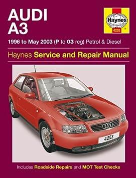 Audi A3 1.6 1.8T 1.8 SE 1.9 Tdi 1996-2003 Haynes manuel 1996-2003: Amazon.es: Coche y moto