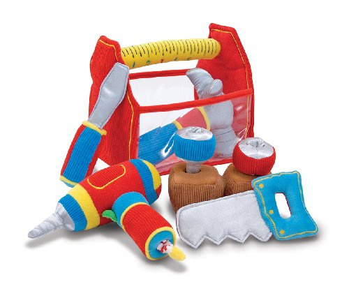 51F03Kg1 pL - Melissa & Doug Toolbox Fill and Spill Toddler Toy With Vibrating Drill  (9 pcs)