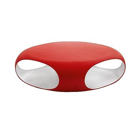 Tavolino Salotto Rosso.Bonaldo Tavolino Pebble Rosso E Bianco Con Contenitore Da