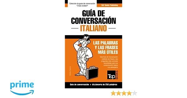 Guía De Conversación Español Italiano Y Mini Diccionario De
