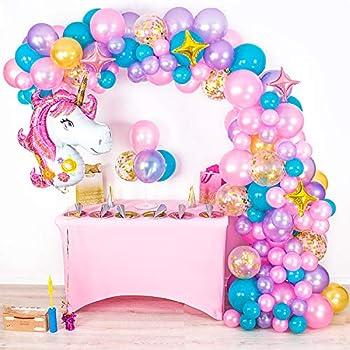 Unicorn Party Supplies Believe In Unicorns 5th Birthday Balloon Bouquet Decorations Mayflower SG/_B0799S8C7P/_US
