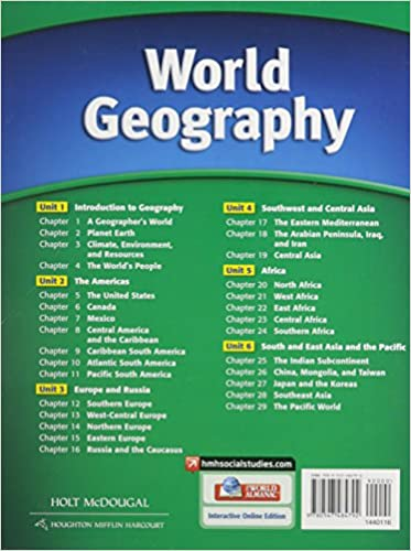 World Geography: Student Edition Survey 2012: HOLT MCDOUGAL ...