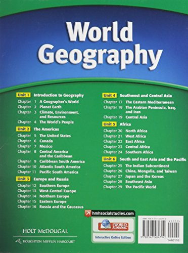 World Geography: Student Edition Survey 2012 by Brand: HOLT MCDOUGAL (Image #1)