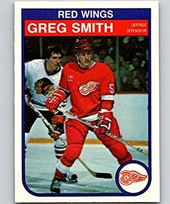 Amazon.com  1982-83 O-Pee-Chee  96 Greg Smith Red Wings NHL Hockey ... bc4ef44a2