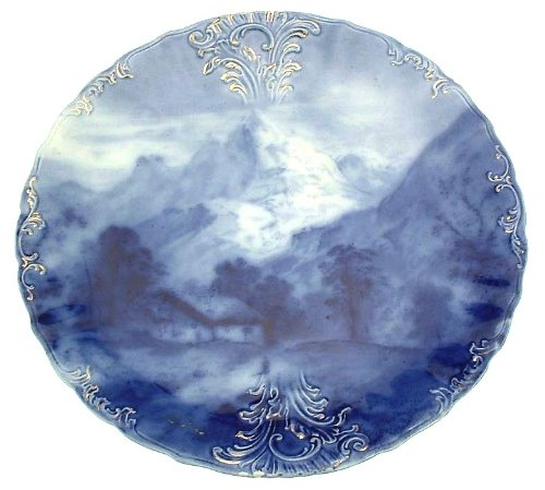 J & G Meakin c1910 Semi porcelain flow blue plate with, used for sale  Delivered anywhere in USA