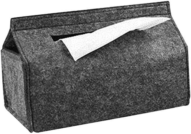 LGGB Caja de pañuelos Bandejas para el hogar Caja Simple de pañuelos de Fieltro de Lana Contenedor de Bombeo de Toallas de Papel de Coche de Color sólido: Amazon.es: Hogar