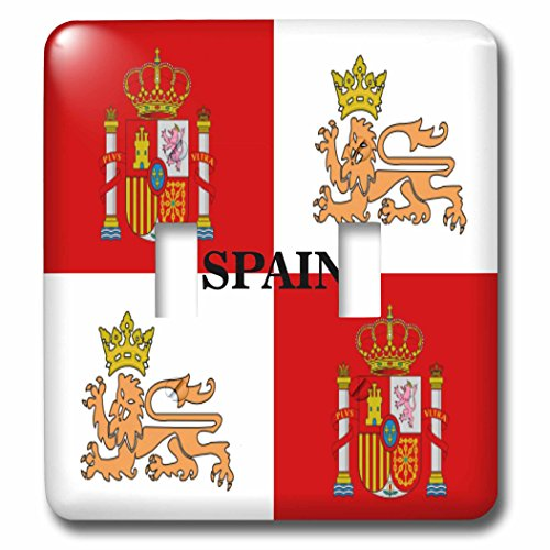 3dRose LLC lsp_60506_2 Historic Flag of Spain's Royal Navy Double Toggle Switch by 3dRose