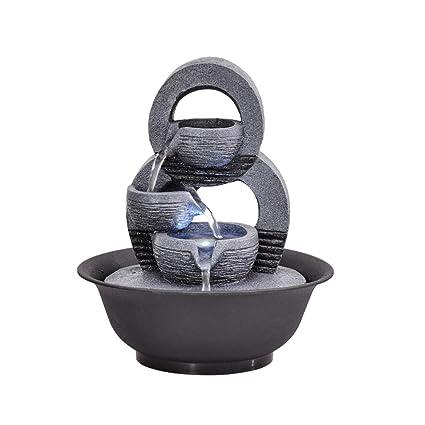 Simple geométrica pecera Adornos de Sala de Estar Cascada Fuente de Agua característica Craft Escritorio decoración