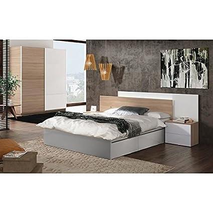 Avina - Testiera per letto con LED, 258 cm, letto matrimoniale ...