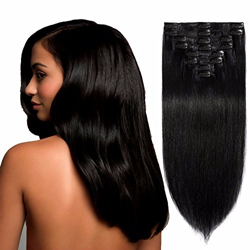 Standard Weft 8 Inch 65g Clip in 100% Real Remy Human Hair E