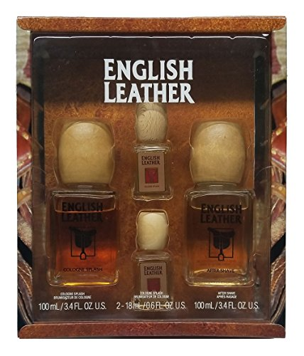 ENGLISH LEATHER by Dana Gift Set for MEN COLOGNE 3.4 OZ AFTERSHAVE 3.4 OZ COLOGNE .6 OZ 2 PCS