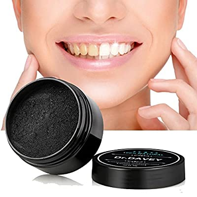 Dr.Davey Active Charcoal Teeth Whitening Powder,Natural Carbon Coco Tooth Whitener and Stain Remover for Teeth
