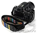 Gadget Hero's Retro Color Pattern Neck Shoulder Soft Strap For SLR DSLR Camera
