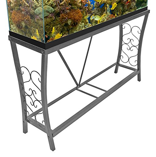 Aquatic Fundamentals 55 gallon Scroll Aquarium Stand, Silver