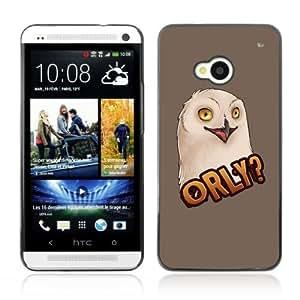 YOYOSHOP [Funny ORLY Owl LOL MEME] HTC One M7 Case