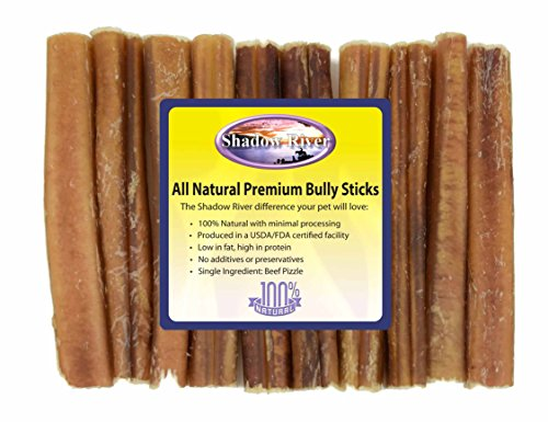 10 pack 6 inch jumbo all natural premium beef bully sticks by shadow river. Black Bedroom Furniture Sets. Home Design Ideas