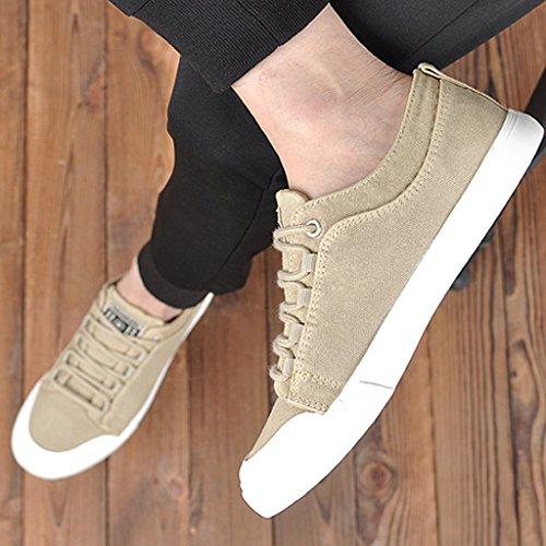 coreano tela casual Espadrillas Size YaNanHome 40 basse bordo scarpe selvagge aiuto Gray Brown uomo da scarpe scarpe da Scarpe di Color stile di Scarpe bassa uomo tendenza q1v10rdw