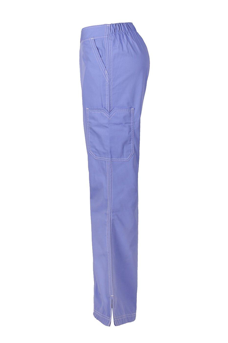 MedPro Women's Medical Scrub Set (Top & Bottom) Royal Blue XXL (5666)
