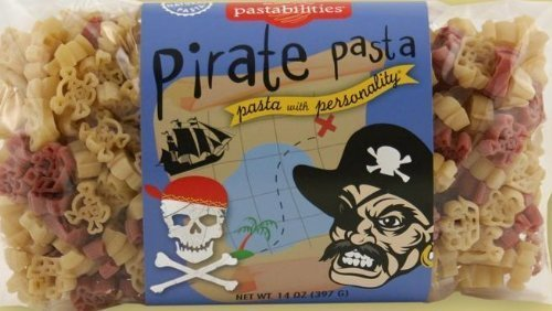 Fun Shaped Pasta 14oz Bag (Pack of 4) Select Shape Below (Pirate - Pirates * Ships * Skull & Crossbones Shapes) by Pastabilities