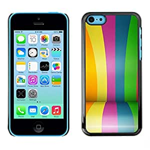 FECELL CITY // Duro Aluminio Pegatina PC Caso decorativo Funda Carcasa de Protección para Apple Iphone 5C // Colors Rainbow Gay Blue