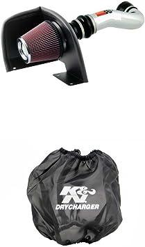 K/&N 77-3058KP Performance Air Intake System with Black Air Filter Wrap
