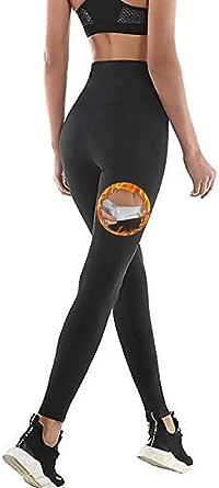 NHEIMA Pantalones de Sauna Adelgazantes Mujer NANOTECNOLOGÍA, Leggins Reductores Adelgazantes, Leggins Anticeluliticos Cintura Alta, Mallas Fitness Push Up para Deporte Running Yoga Gym