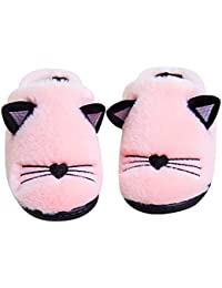 Kids Family Cute Cat Household Anti-Slip Indoor Home Slippers For Girls and Boys