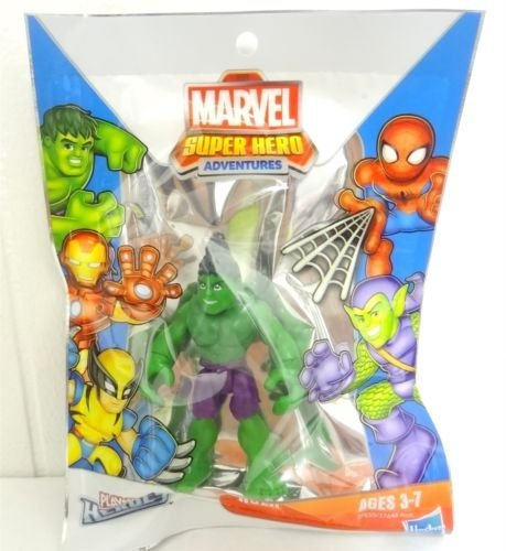 Bagged Super Hero Adventures Marvel Playskool Mini Figure Hulk