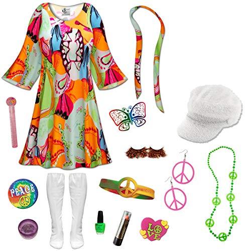 Lava Love Gogo Dancer Plus Size Halloween Costume Deluxe Kit -