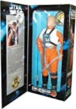 Kenner Year 1996 Star Wars Collector Series 12 Inch Tall Fully Poseable Figure with Authentically Styled Outfit and Accessories - Luke Skywalker in X-Wing Gear with Helmet and Visor, Harness and Lightsaber