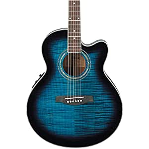 ibanez ael20ent acoustic electric guitar transparent blue sunburst musical instruments. Black Bedroom Furniture Sets. Home Design Ideas