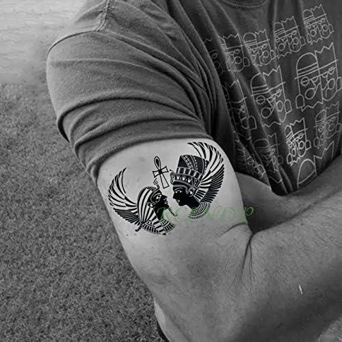 tzxdbh Impermeable Etiqueta Engomada del Tatuaje Temporal Antiguo ...