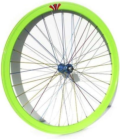 Riscko 004l Rueda Trasera Bicicleta Personalizada Fixie Talla L Amarillo Limon: Amazon.es: Deportes y aire libre