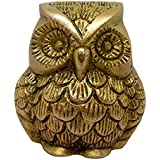 Owl Statue Metal Art Sculpture Handmade Antique Decorative Brass Collectible Figurine For Home Decoration