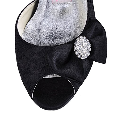 Minitoo de 5cm mariage noir Black tendance Heel Chaussures 7 femme rCqxv5r8