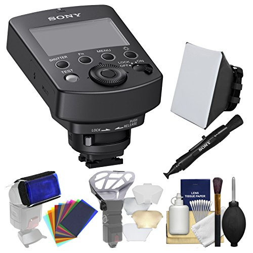 Sony FA-WRC1M Wireless Radio Commander with Soft Box + LensPen + Diffuser + Gel Filter Set + Kit (Flash Trigger Sony)