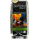 Caffe Sanora Organic Antioxidant-Rich, Dark Roast Whole Bean Coffee, 12-Ounce Bags (Pack of 2)