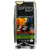 Caffe Sanora Organic Antioxidant-Rich, Dark Roast Whole Bean Coffee, 12-Ounce Bags (Pack of 2) For Sale