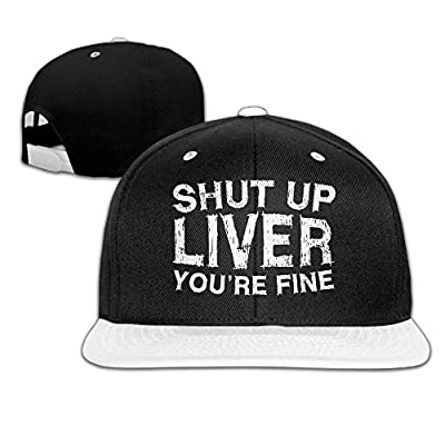 Bonvzu-9 Funny Shut Up Liver You're Fine Outdoor Adjustable Baseball Cap Snapback Hat For Men/Women