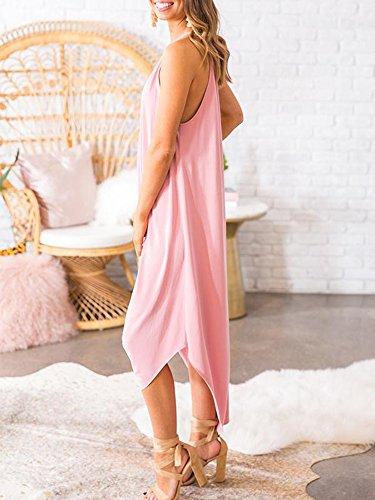 Beautife Womens Summer Sleeveless Halter Maxi Dress Casual Loose Fit Plain Long Dresses by Beautife (Image #2)