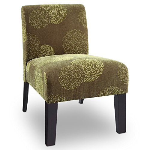 DHI Stylish Contemporary Chair – Modern Accent Upholstered Seat Office Bedroom Living Room Entryway Mudroom Indoor Furniture Free eBook (Green)
