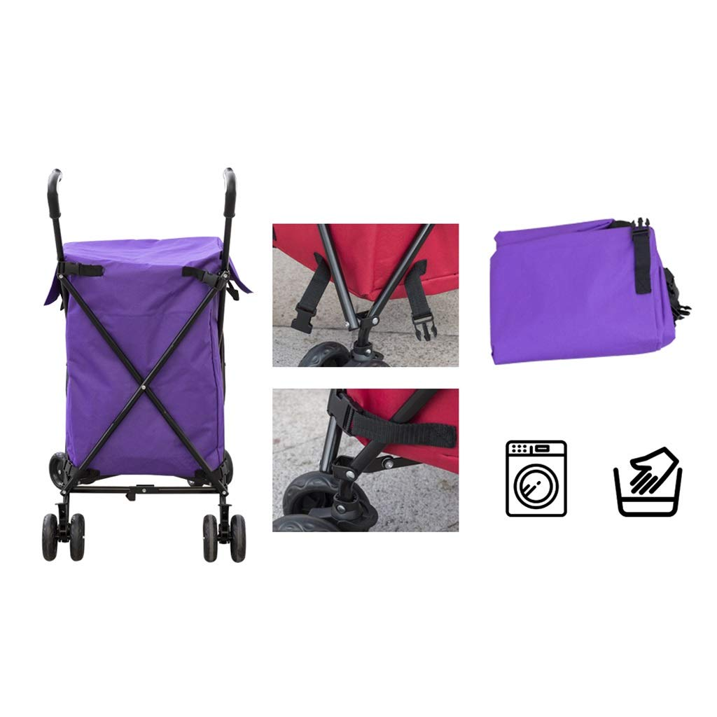 Supermarket Shopping cart, Three Seconds Folding Towel Storage Box Hotel Room Service car Hair Trolley by HT trolley (Image #5)
