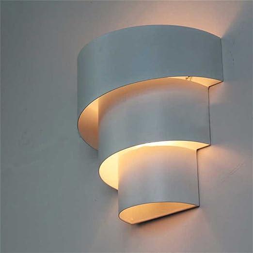 JJZHG Lámpara de Aplique Pared Interior Espiral Pasillo lámpara de Pared balcón Creativo Dormitorio cabecera lámpara de Pared Escalera de Pared Villa Incluye:Lampara de Pared: Amazon.es: Hogar