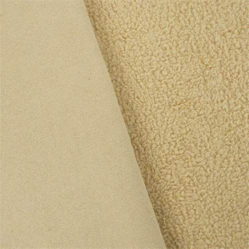 French Vanilla Single-Sided Berber Fleece, Fabric by The Yard