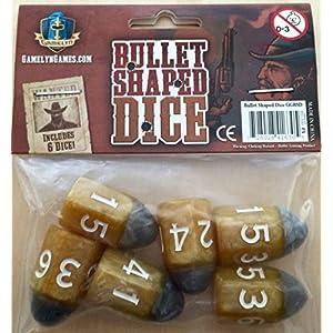 Gamelyn Games Tiny Epic Western Themed Bullet Dice – Custom RPG Dice Set